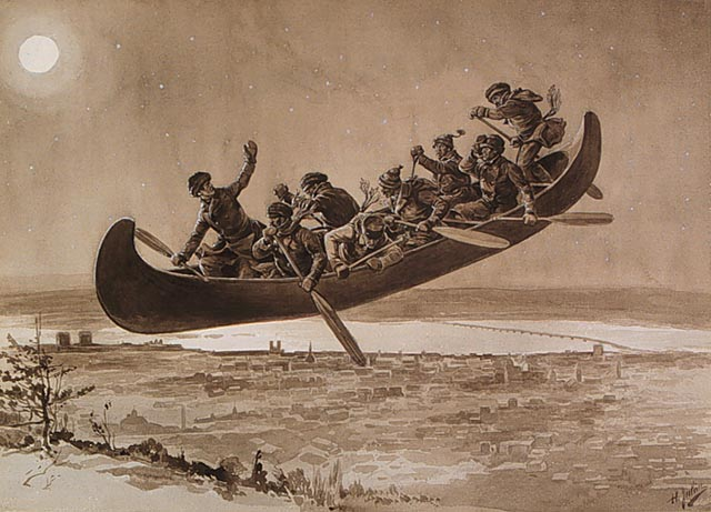 Thursday's Tale: The Legend of the Flying Canoe (La Chasse-galerie)