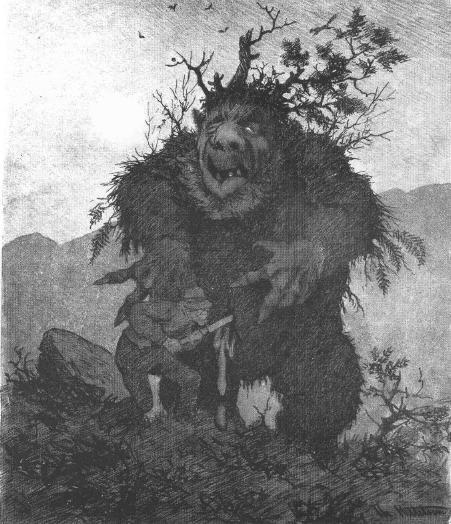 Forest Troll - Skogtrold by Theodor Severin Kittelsen