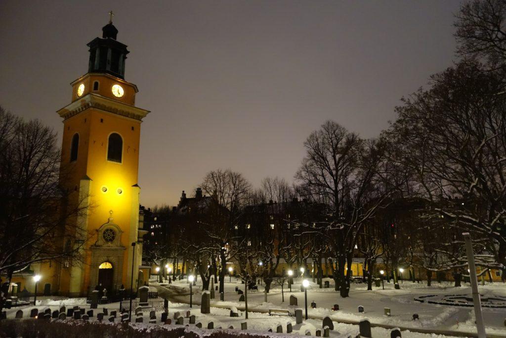 The church yard at Maria Magdalena in Södermalm. Photo by Sandra Carpenter.