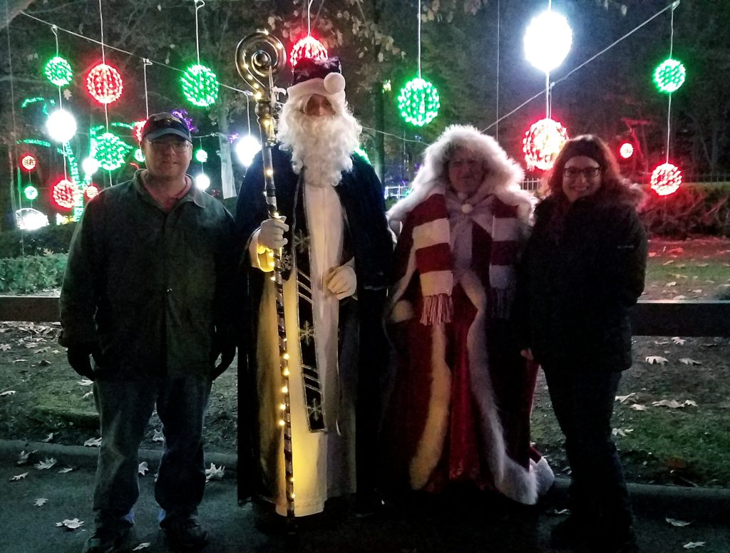 David and me with Father Christmas and his wife